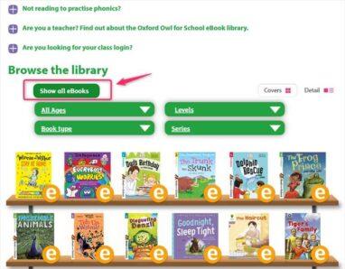 「Show all eBooks」ボタンを押すことで絞り込みのリセットができる